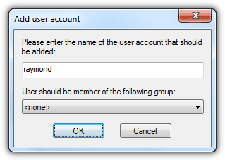 FileZilla Add User Account