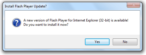 Install Flash Player Update?