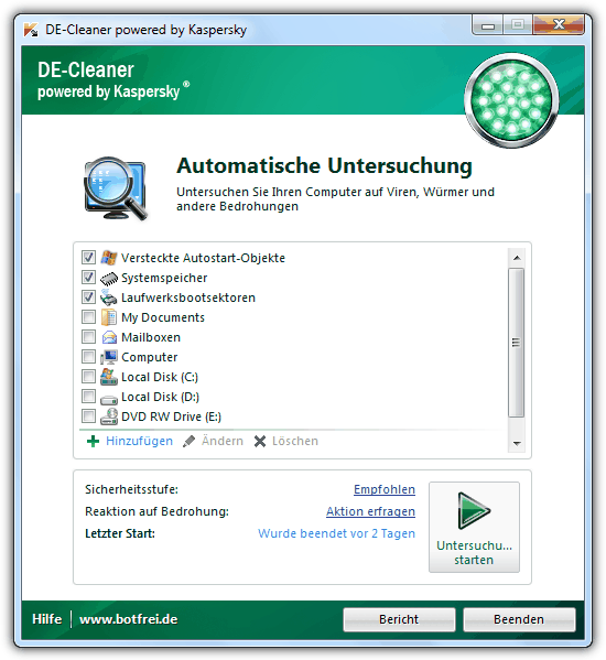 Kaspersky DE-Cleaner