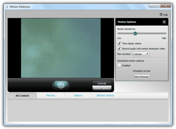 Logitech Webcam Software Motion Detection