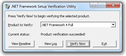 Verify .NET Framework