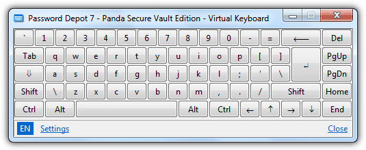Panda Antivirus Virtual Keyboard