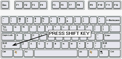 SHIFT key to disable autorun