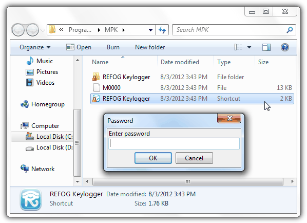 REFOG Keylogger Password