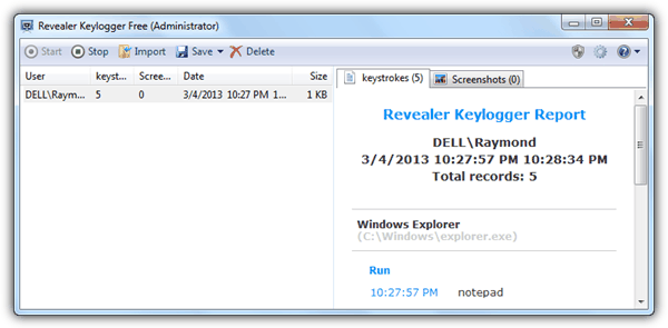 windows 7 phone keylogger