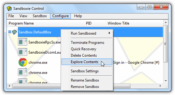 Sandbox Folder to Check