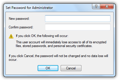 Set password for administrator