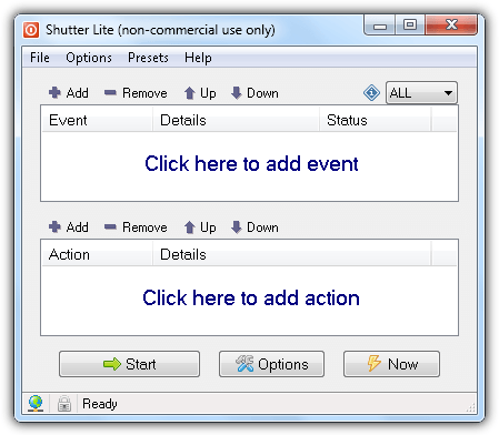 Shutter Low Battery Actions Event