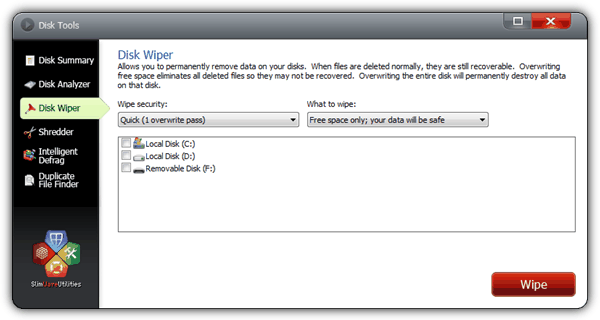 8 Free Tools to Securely Wipe Free Disk Space Preventing Recovery