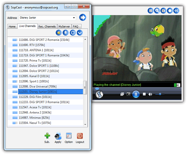 free software to watch satellite tv on pc