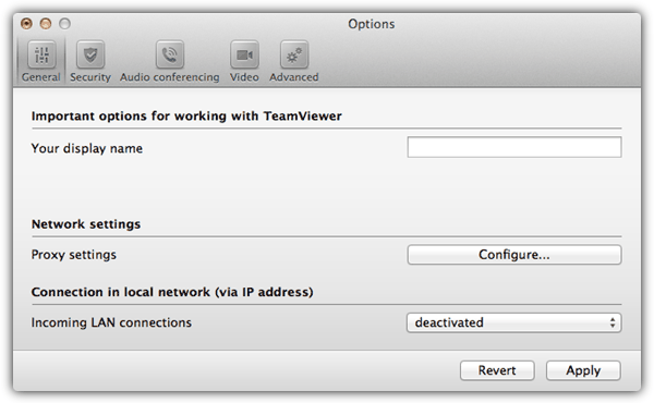 TeamViewer Host Options