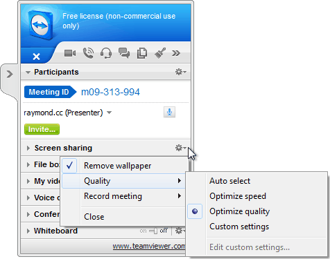 TeamViewer Presenter Bar