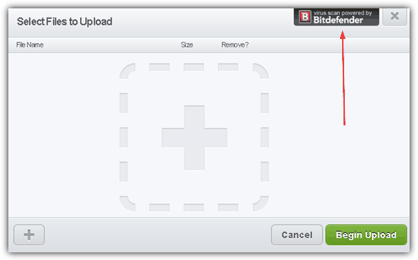Virus scan powered by bitdefender