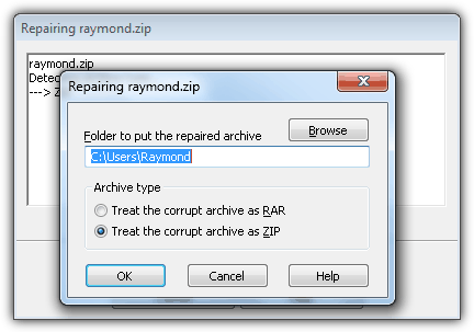WinRAR Repair ZIP