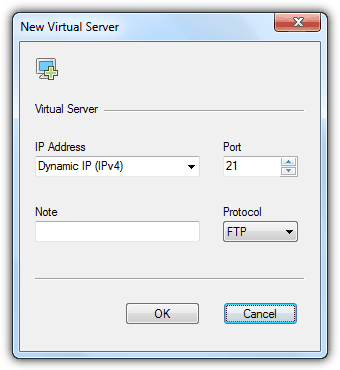 Xlight New Virtual Server