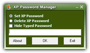 XP Password Manager