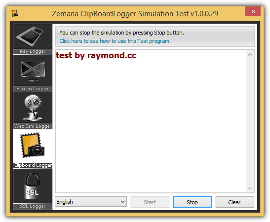 Zemana ClipboardLogger Simulation Test