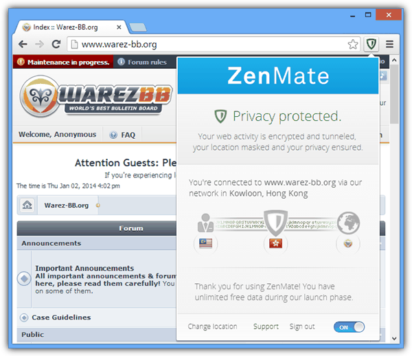 zenmate access blocked websites